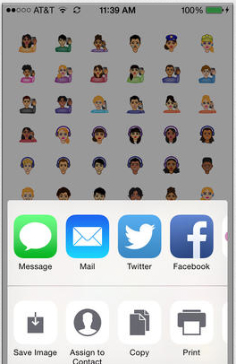 Convey feelings and emotions with iDiversicons